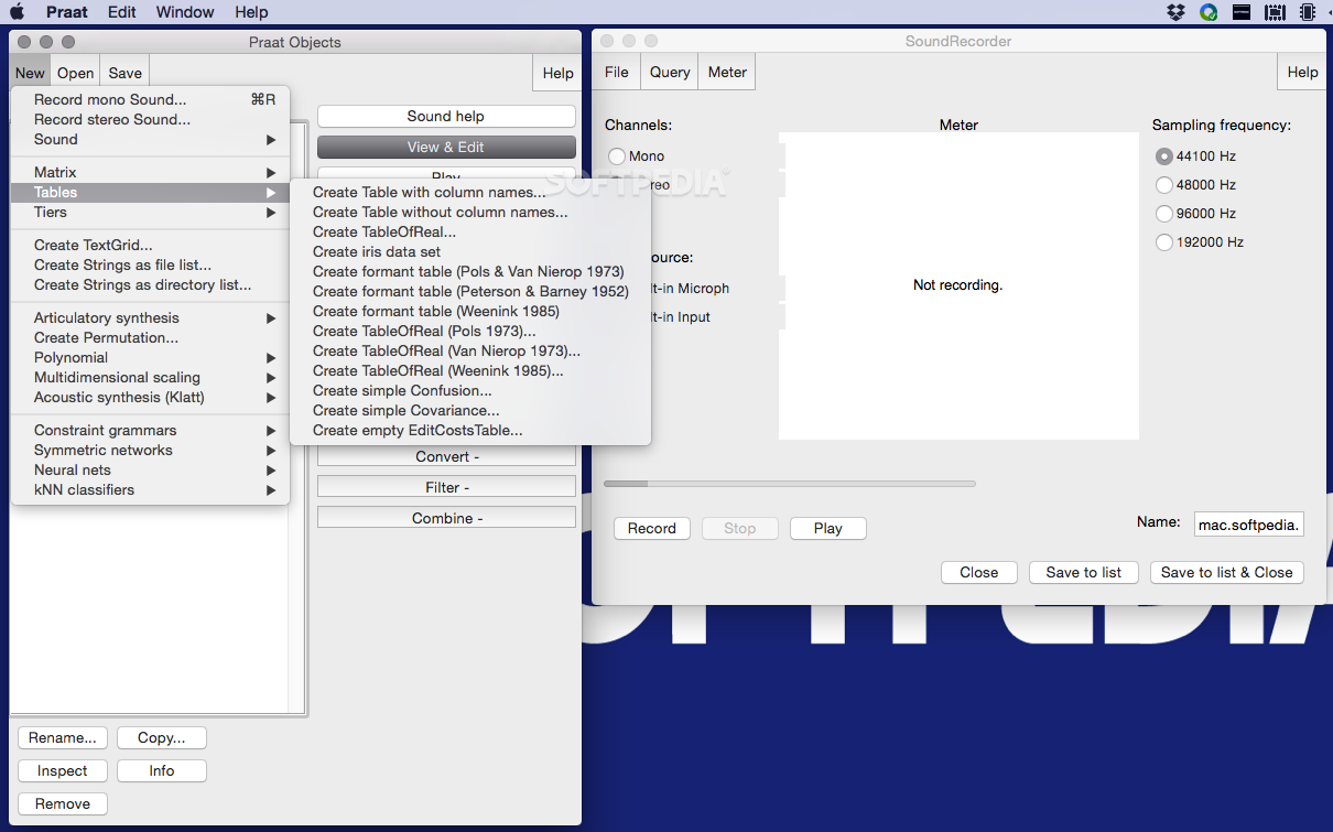 Praat download mac