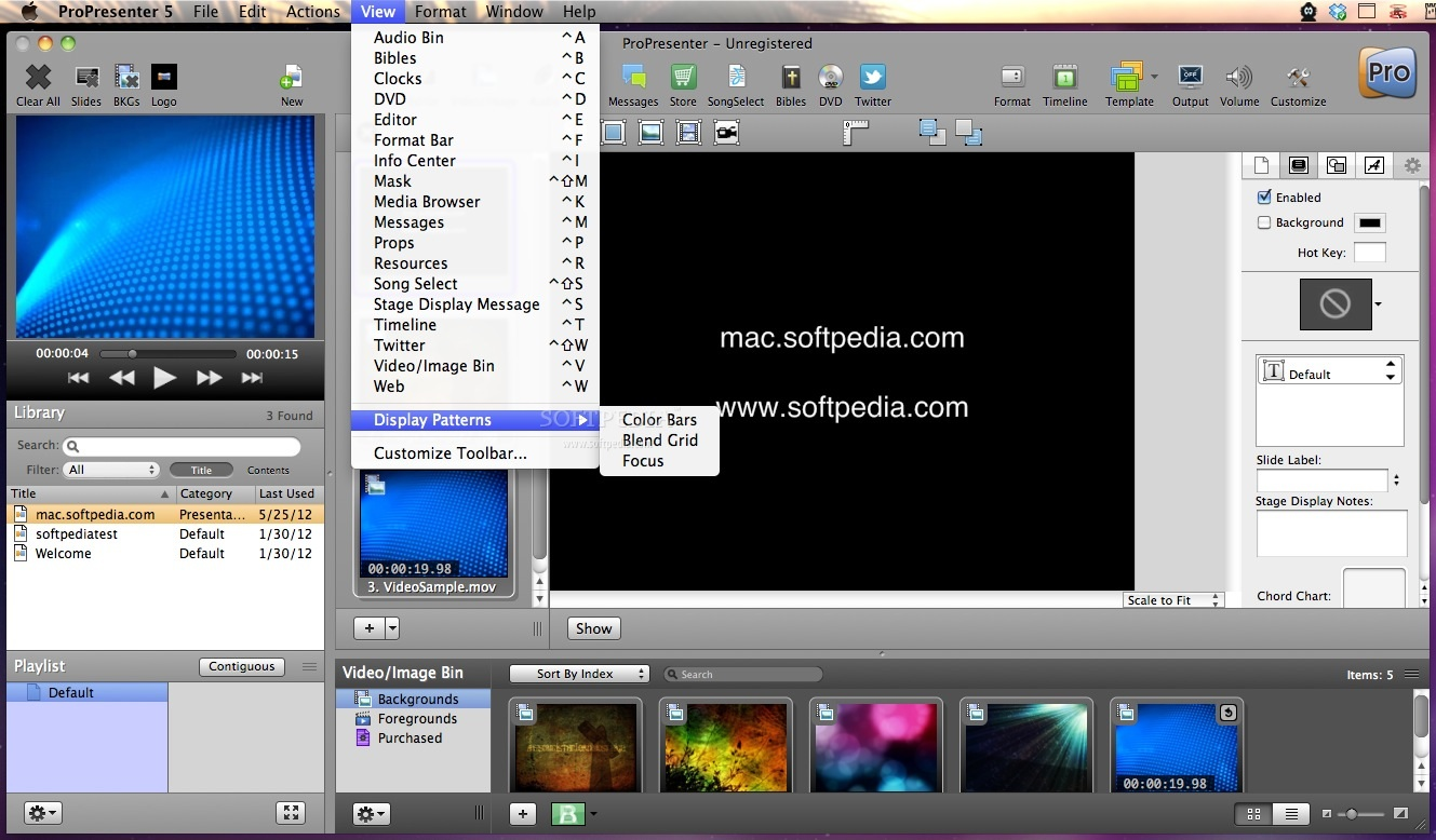ProPresenter screenshot 3