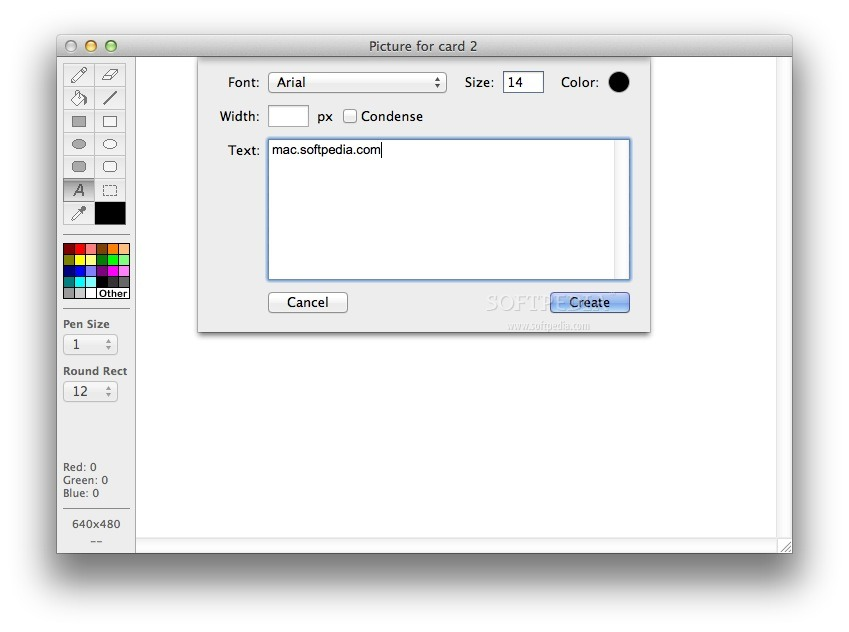 Project Canvas screenshot 4 - The images editor also allows you to include text in your projects.