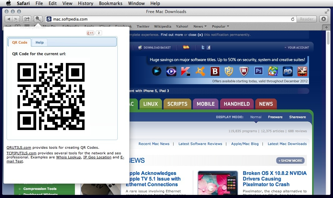 QR Code Generator screenshot 1 - You can view the QR code in the QR Code Generator panel.
