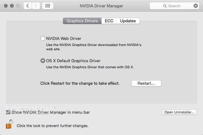 Nvidia Quadro & GeForce Driver Mac 387 10 10 10 40 130 - Download