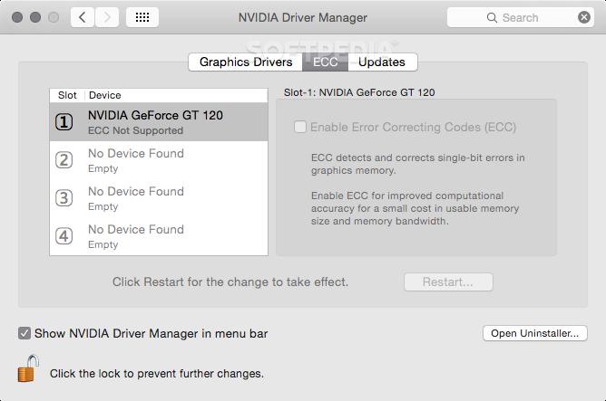 Nvidia Quadro & GeForce Driver Mac 387 10 10 10 40 130