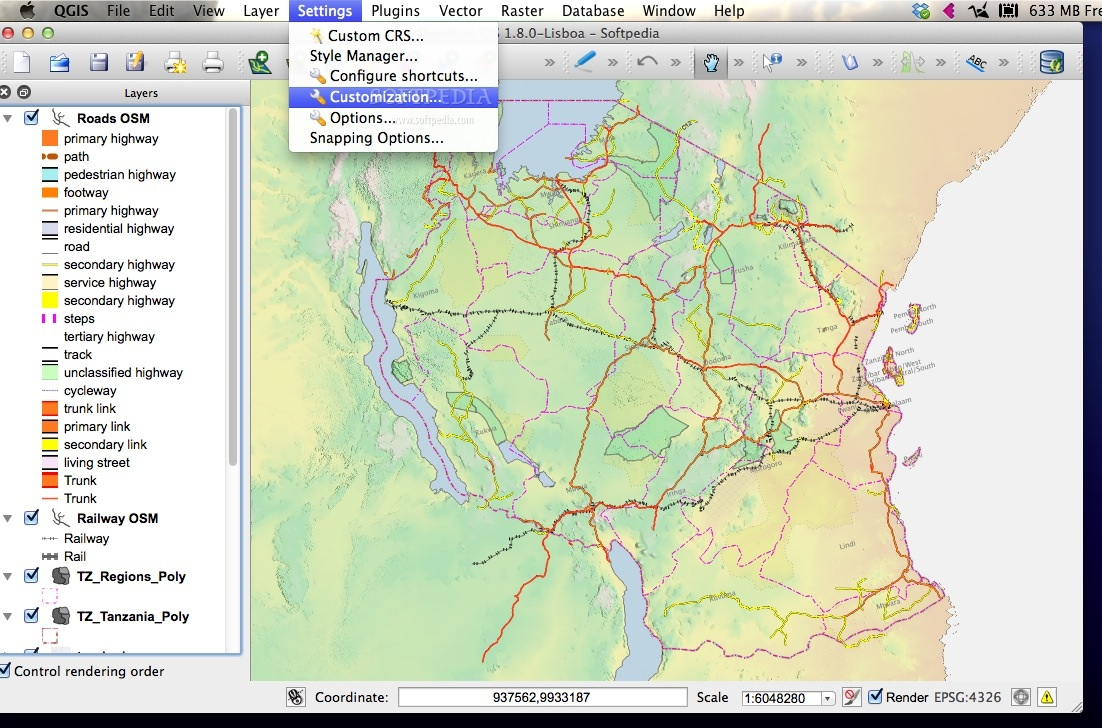 QGIS Mac 3 8 1-1 - Download