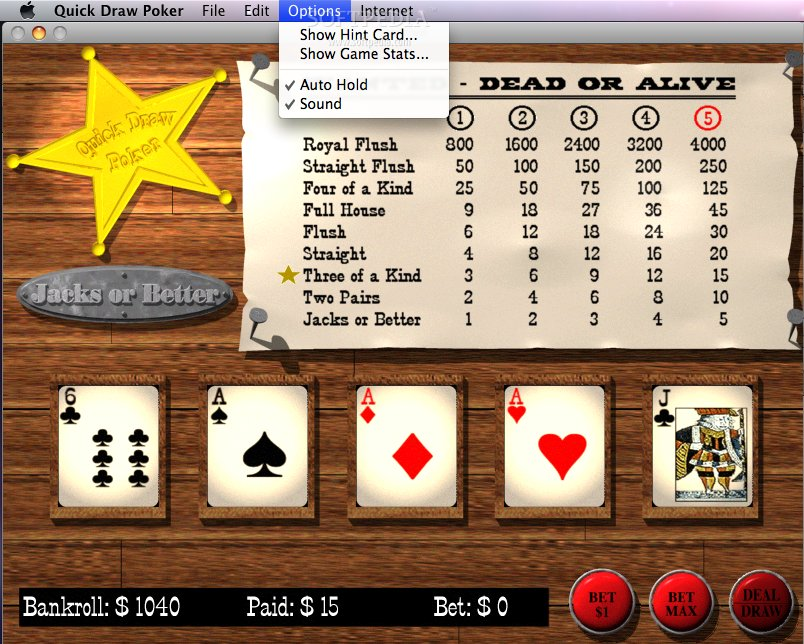 how to play quick draw poker