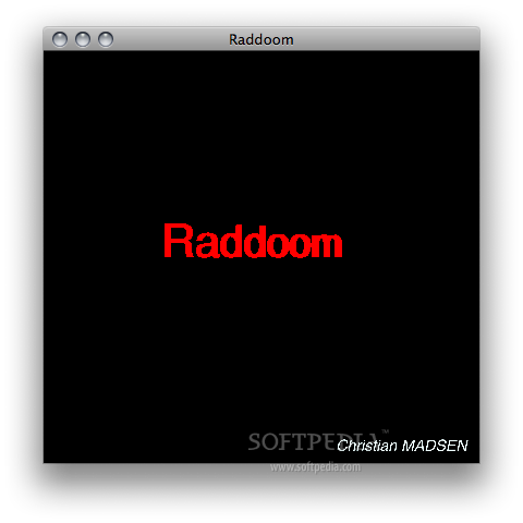 RadDoom screenshot 2 - The GUI.