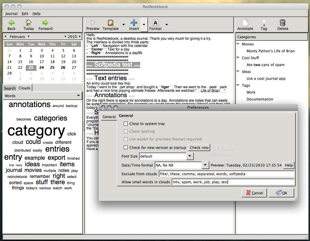 foto de RedNotebook Mac 1.8.0 - Download