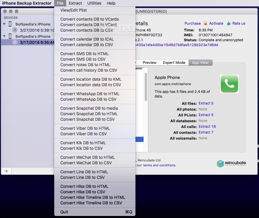 iPhone Backup Extractor Mac 7 7 2 2167 - Download