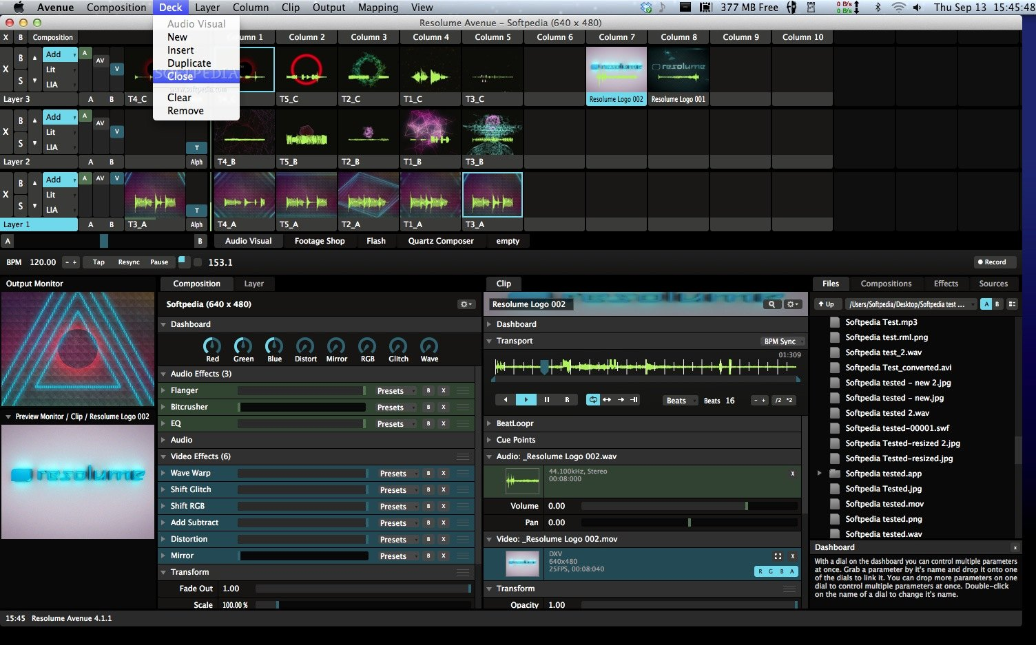 Resolume Avenue screenshot 2