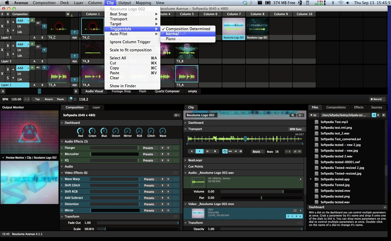 Resolume Avenue screenshot 4