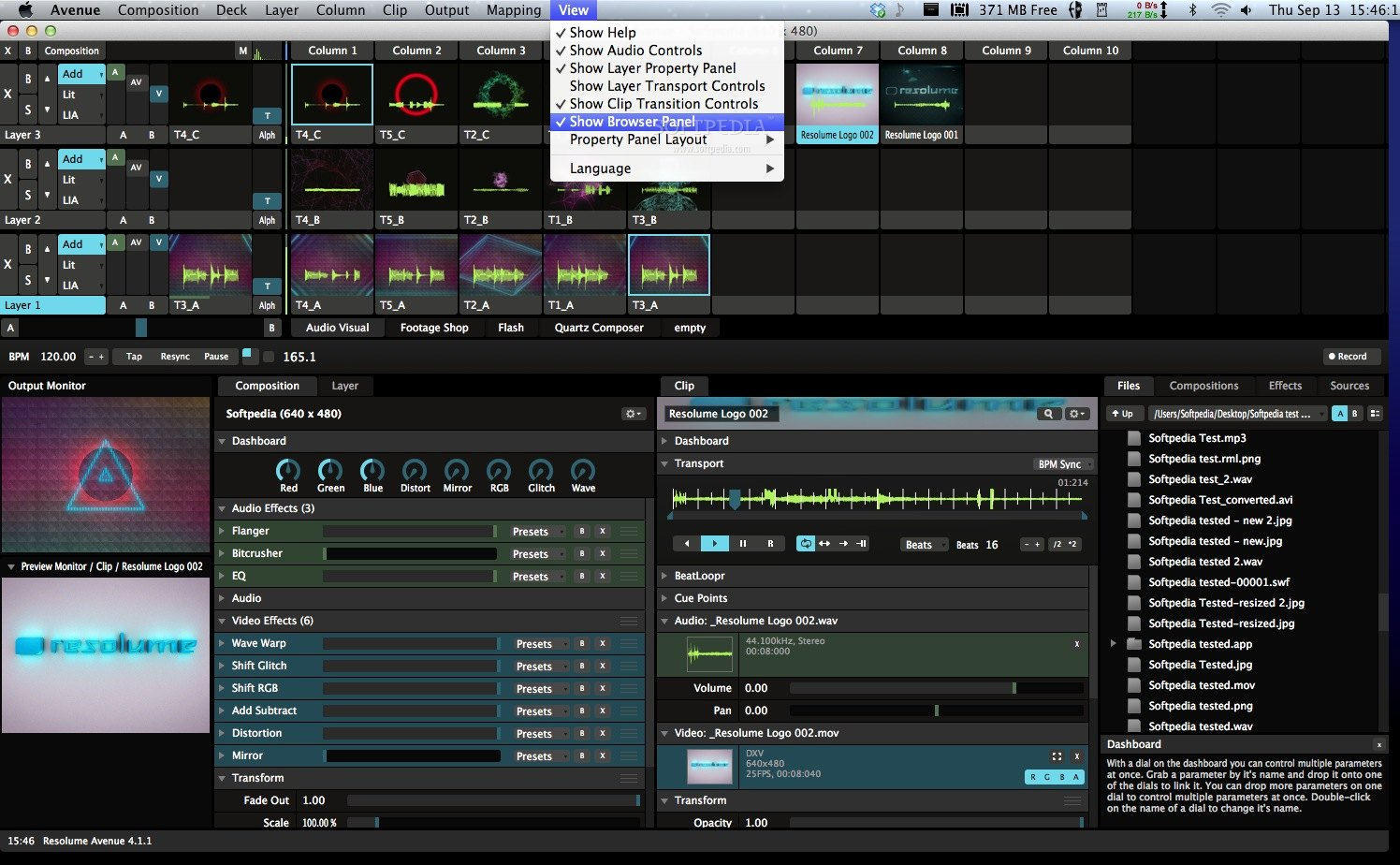 Resolume Avenue screenshot 7