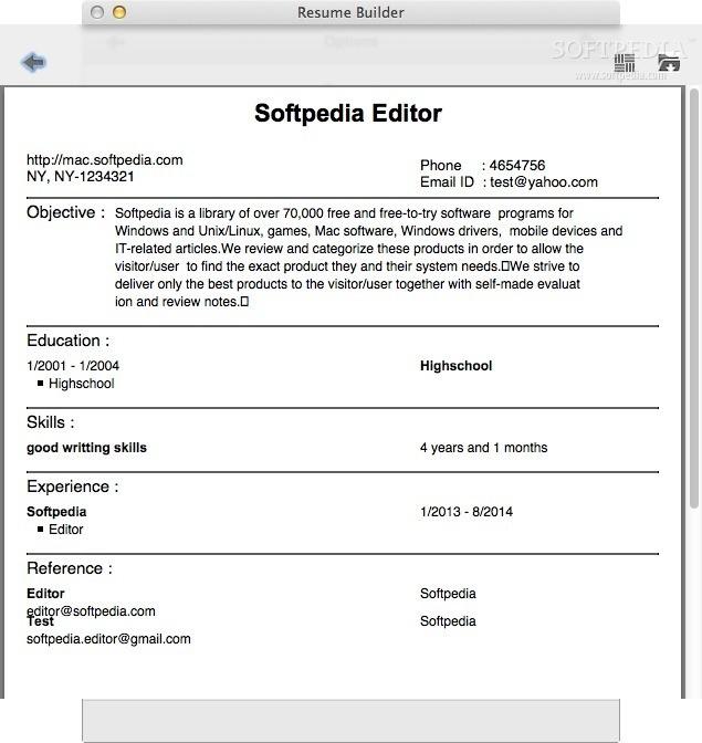 resume builder mac 1 5 3