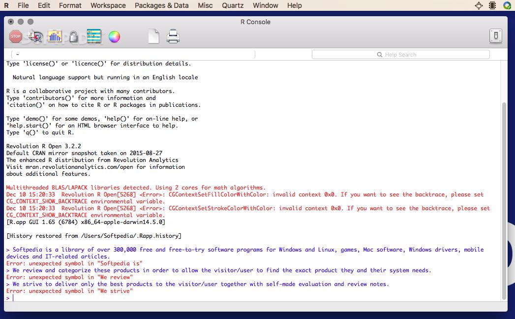 Microsoft R Open (formerly Revolution R Open) Mac 3 5 0