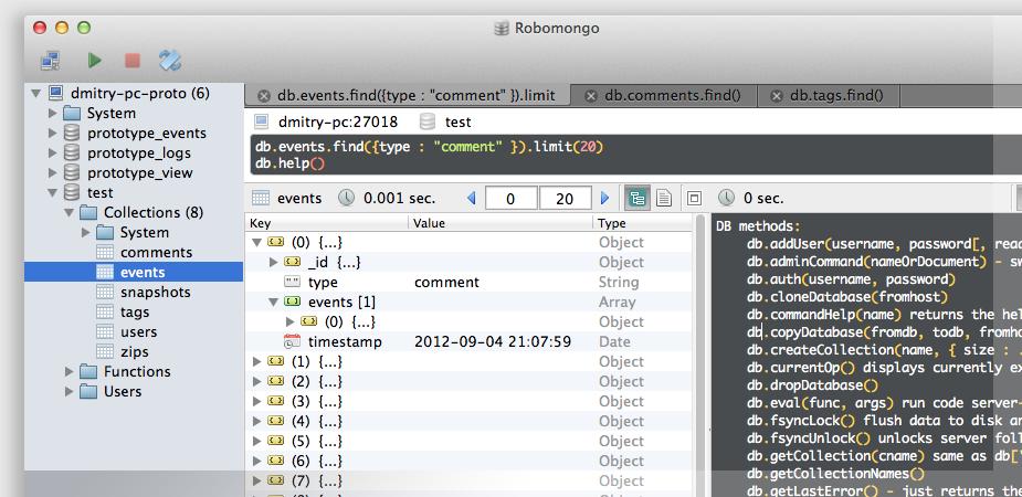 Robo 3T (formerly Robomongo) Mac 1 3 1 - Download