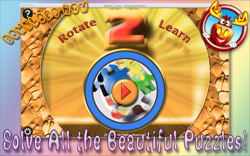 Rotate 2 Learn screenshot 2 - Each puzzle has a certain rotations that you have to perform in order to solve it.
