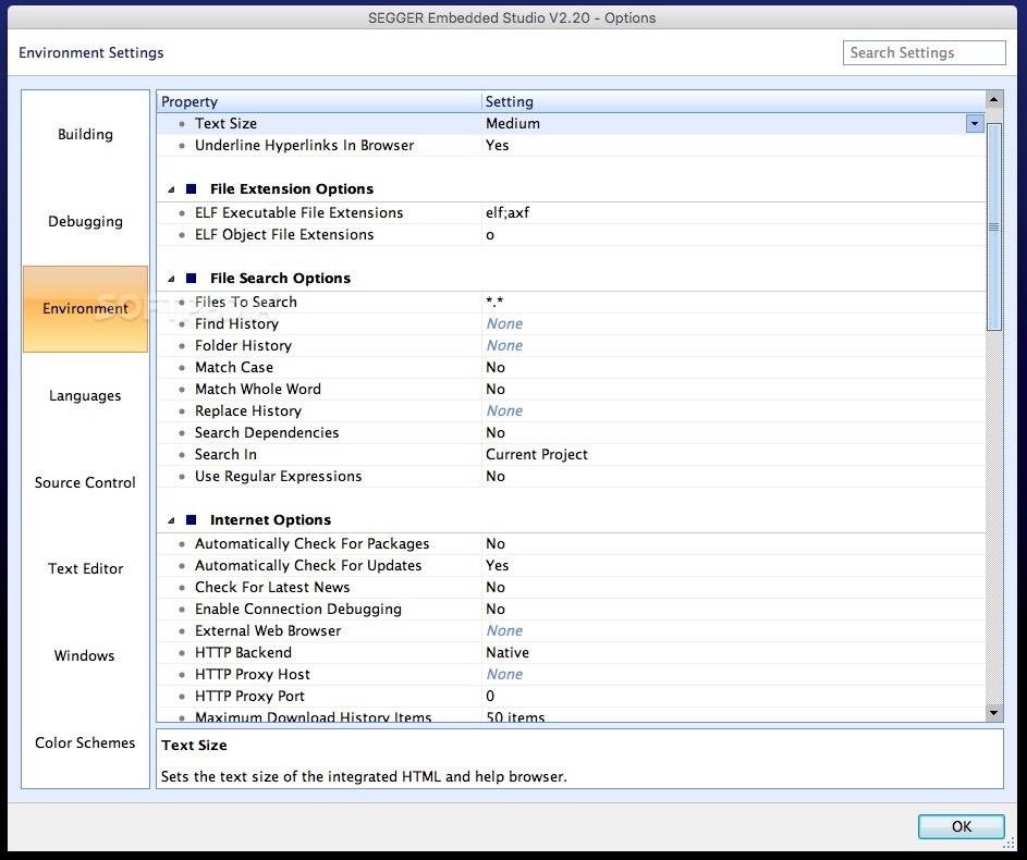 SEGGER Embedded Studio Mac 4 20a - Download