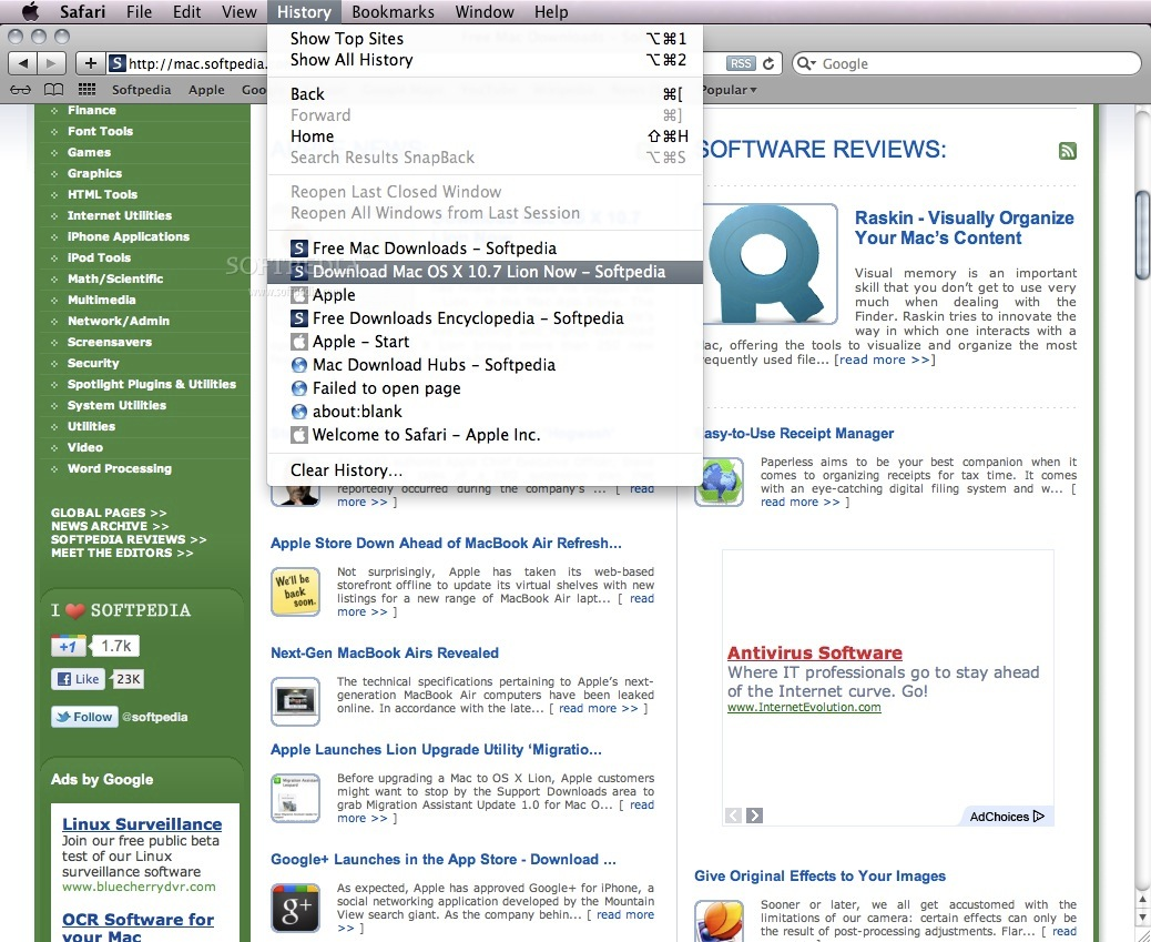 Safari screenshot 9