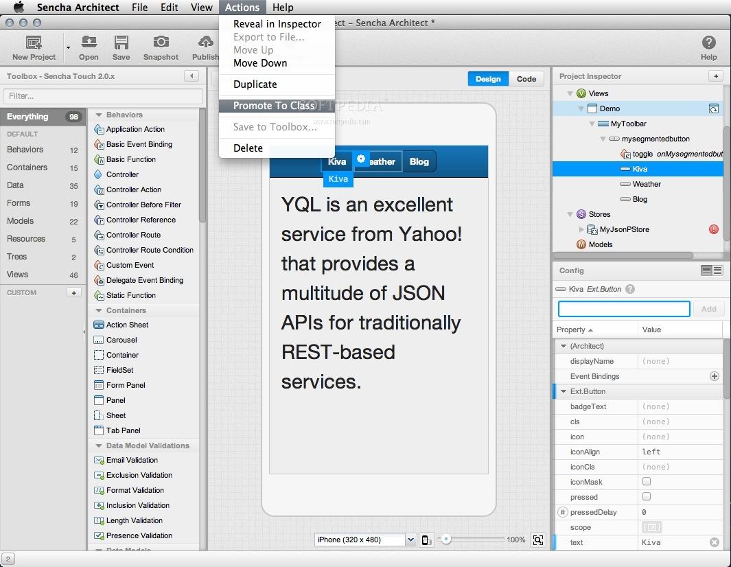 Sencha Architect Mac 3 2 0 Build 75 - Download