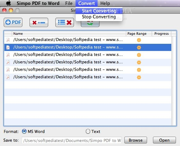 how to make mac read text on word