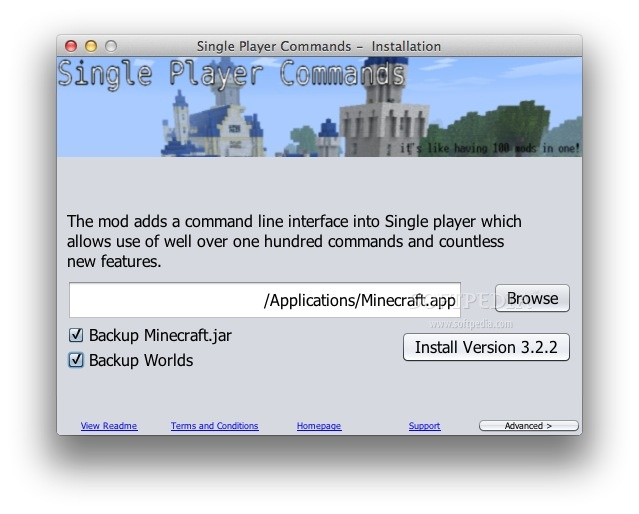 Minecraft how to download and use single player commands (mac.