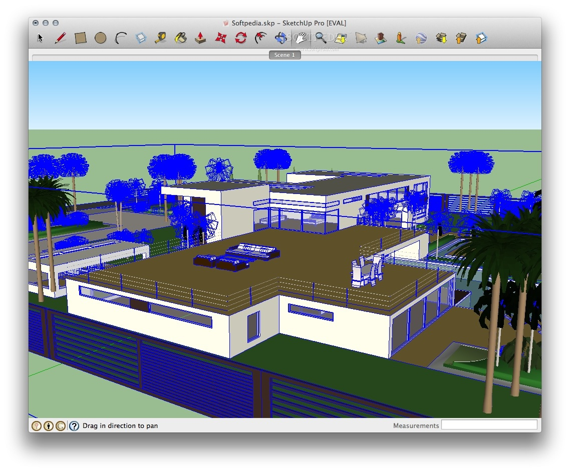 SketchUp Pro screenshot 1 - You will be able to create precise and professional 3D models.