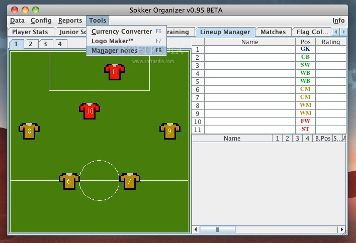 Sokker Organizer Mac 0 95 Beta - Download