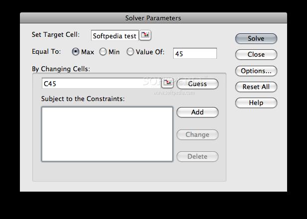 solver add excel mac 2008