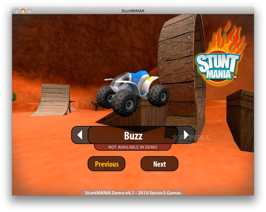 Screenshots of StuntMANIA