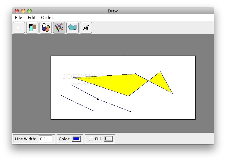 Draw screenshot 1 - Here you can draw a new image.