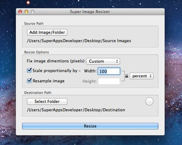 Super Image Resizer screenshot 1