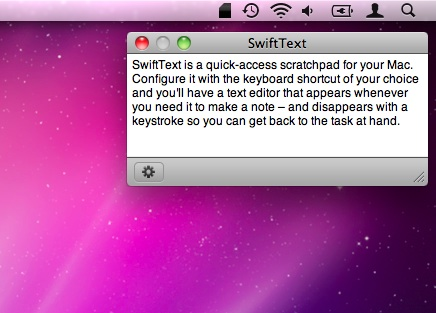 SwiftText screenshot 2