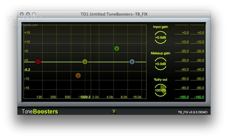 TB FlX screenshot 1 - You will be able to use both an equalizer and a flexible dynamics processor.