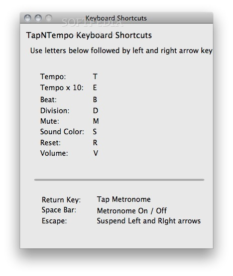 TapNTempo screenshot 3 - You can use these shortcuts to use the app.