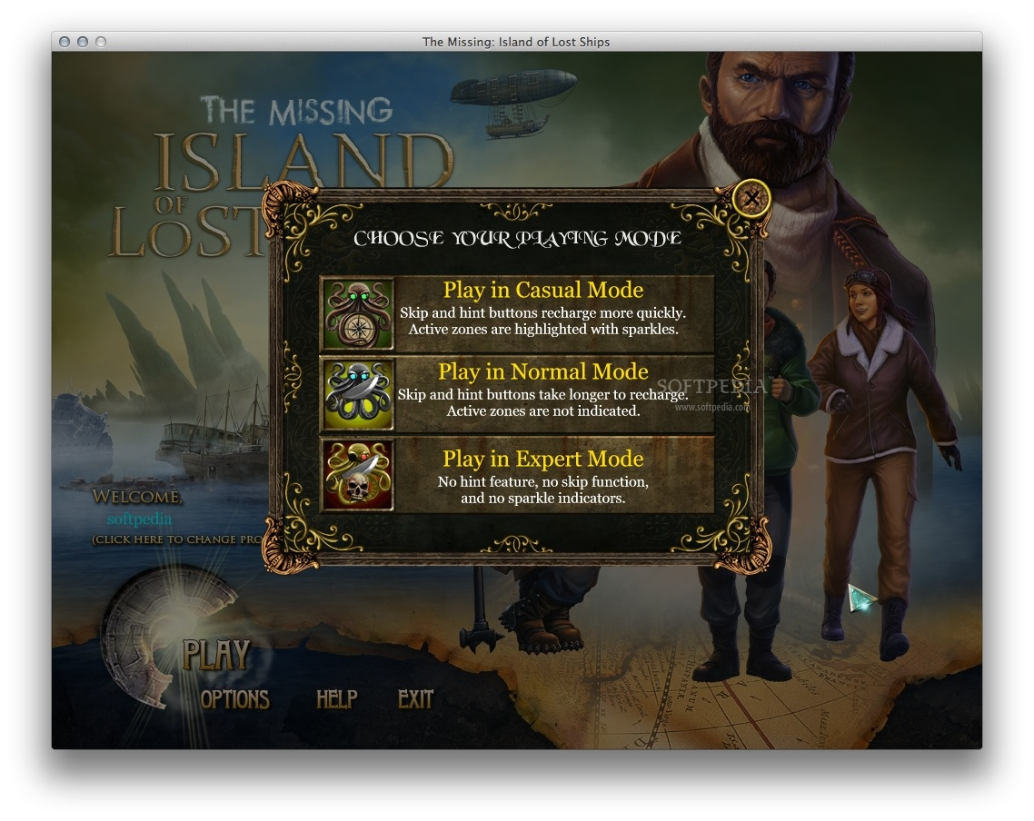 The Missing: Island of Lost Ships screenshot 4 - You can easily choose the difficulty level.
