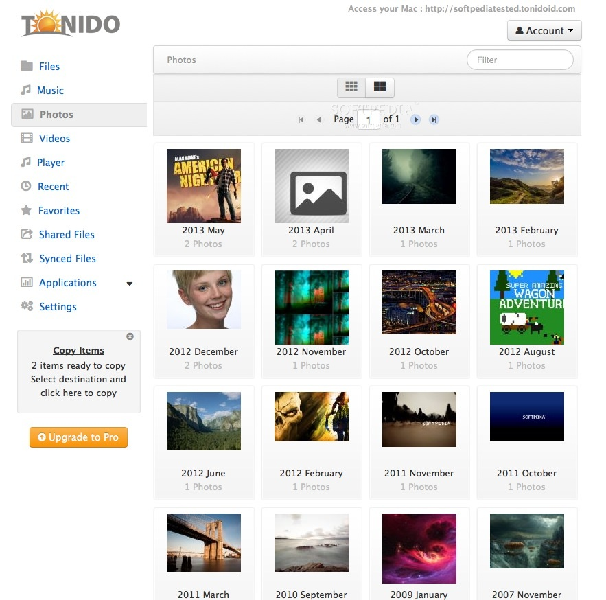 Tonido screenshot 3