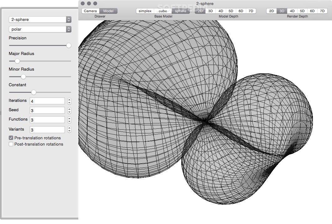 Topologic screenshot 1 - Here you can visualize and explore the model.
