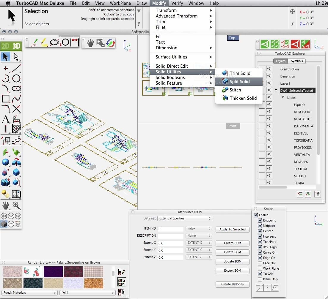 TurboCAD Deluxe Mac 10.01