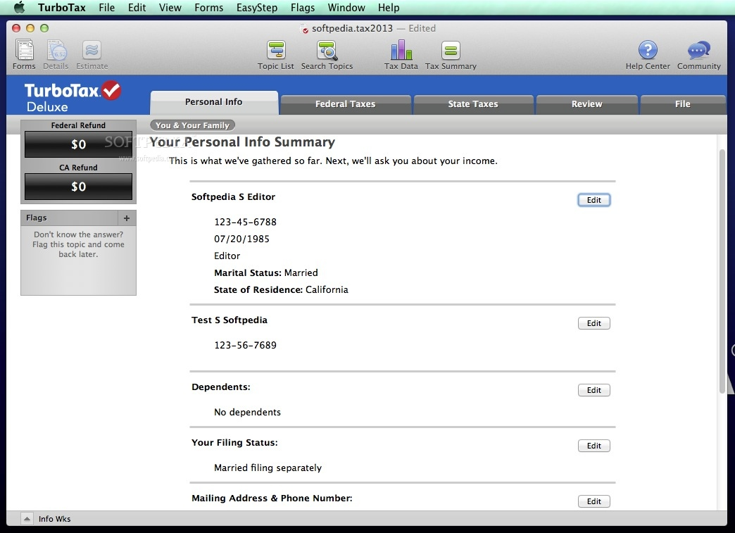 turbo tax software for mac