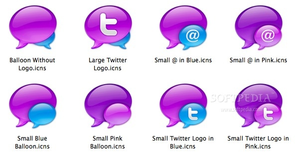 Tweetie Balloons screenshot 1 - You have the possibility to preview the icons included in the collection.