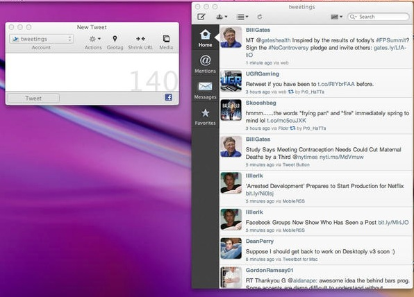 Tweetings for Twitter screenshot 1