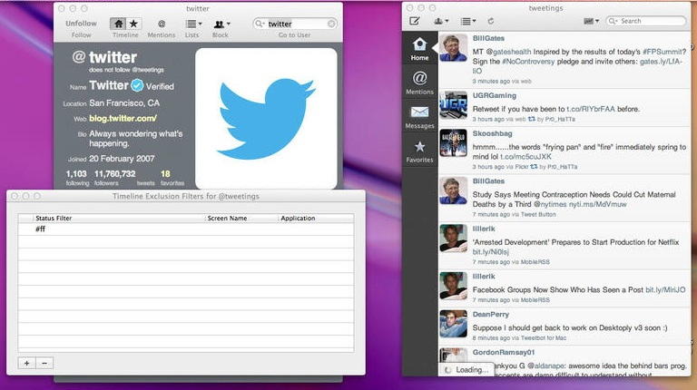 Tweetings for Twitter screenshot 2