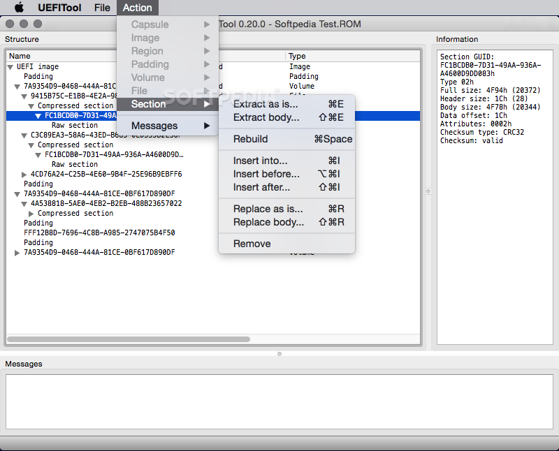 UEFITool Mac 0 26 0 / 0 55 0 Alpha - Download