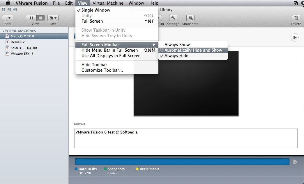 VMware Fusion screenshot 17
