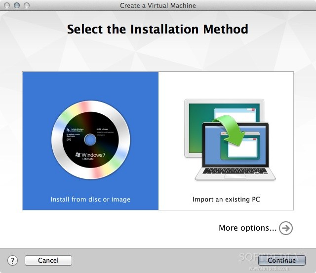 VMware Fusion screenshot 3 - By clicking the Pause button, you can suspend the currently open virtual machine with a mouse click.