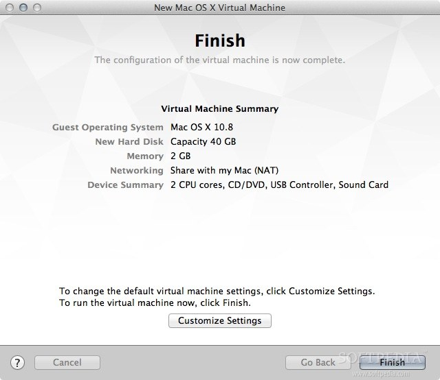 VMware Fusion screenshot 5