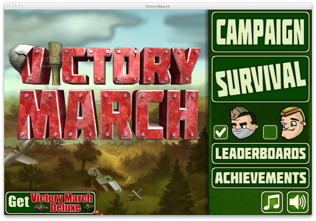 Victory March screenshot 6 - From Victory March's main window you will be able to choose between the Campaign or the Survival mode.