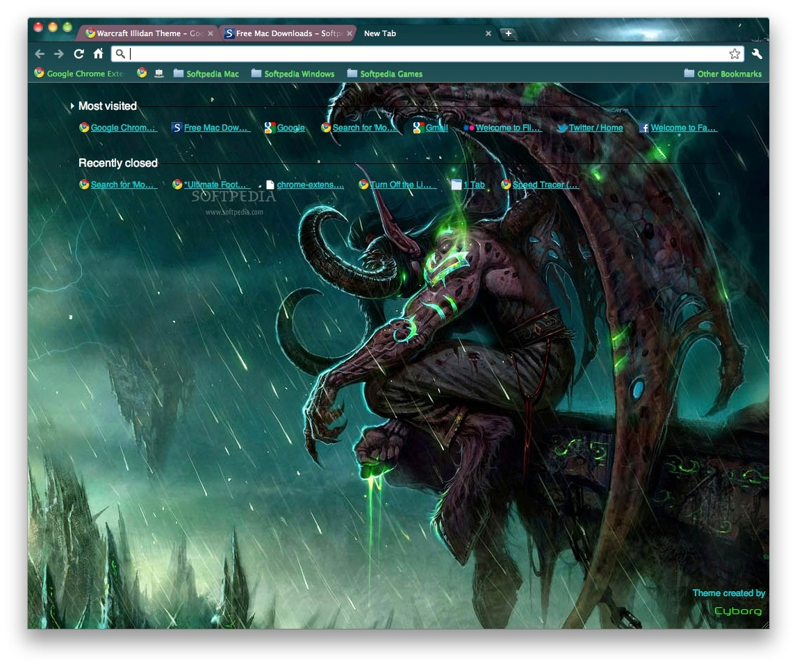 Warcraft Illidan Theme screenshot 2