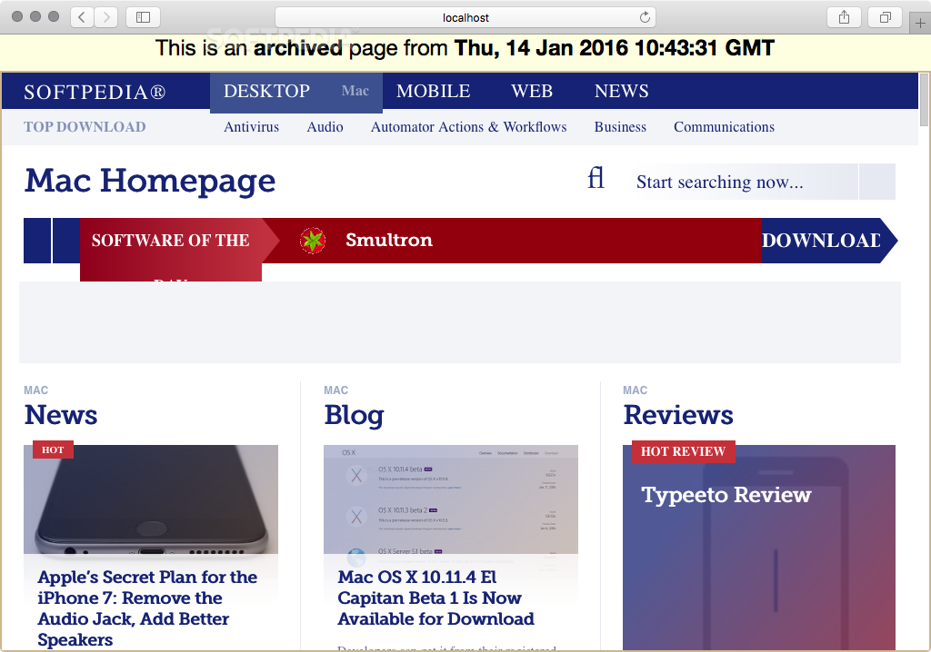open web archive file mac os x