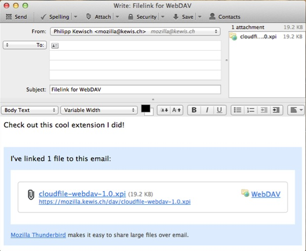 WebDAV for Filelink screenshot 1