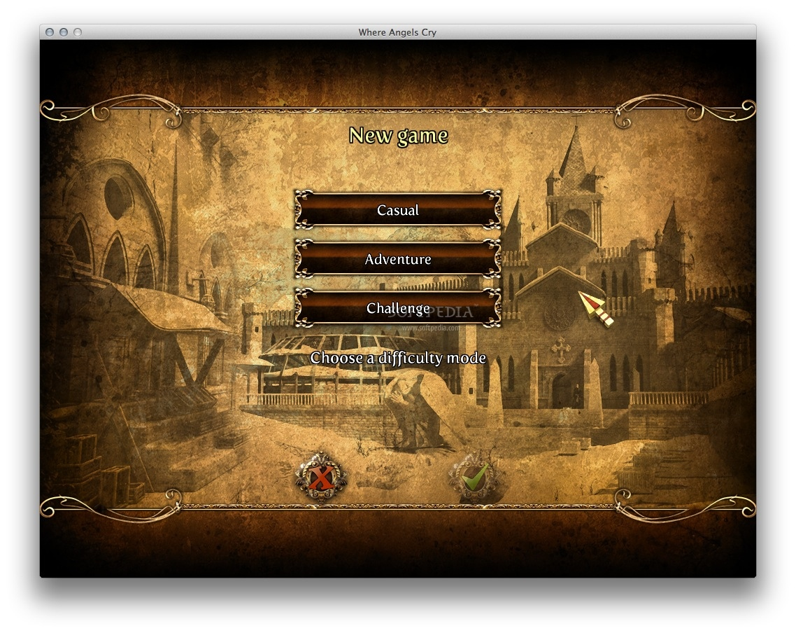 Where Angels Cry screenshot 4 - You can choose one of the 3 difficulty levels: Casual, Adventure and Challenge.