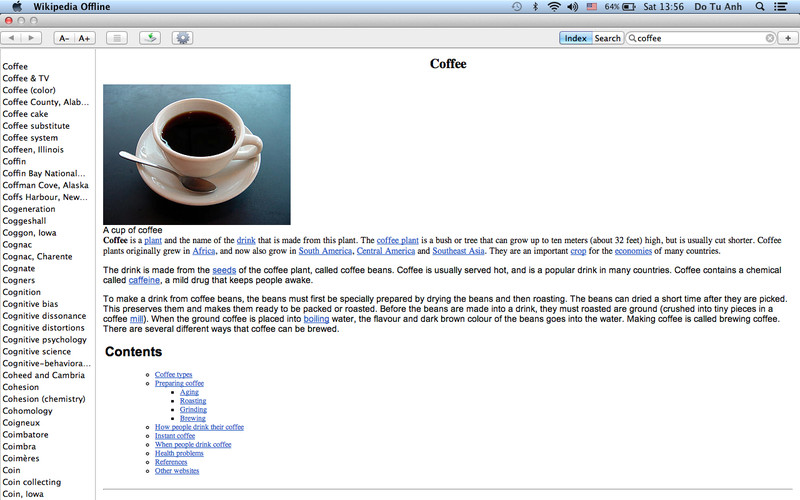 Wiki Offline - 80+ Languages of Wikipedia screenshot 1